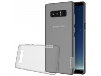 Husa silicon TPU Samsung Galaxy Note8 N950 Nillkin Nature Gri Transparenta Blister Originala