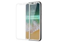 Folie Protectie ecran Apple iPhone X Vmax Tempered Glass Full Face 2.5D Alba Blister Originala