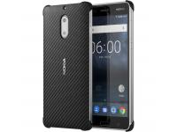 Husa plastic Nokia 6 CC-802B Carbon Fibre Onyx Blister Originala