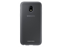Husa Silicon TPU Samsung Galaxy J3 (2017) J330 Jelly Cover EF-AJ330TBEGWW Gri Transparenta Blister Originala