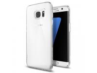 Husa silicon TPU Samsung Galaxy S7 edge G935 Spigen 556CS20032 Liquid Crystal transparenta Blister Originala