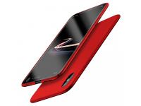Husa plastic Apple iPhone X Ultra Slim Matte Cafele Drop-proof rosie Blister Originala