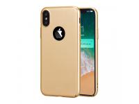 Husa plastic Apple iPhone X Lenuo Slim aurie Blister Originala
