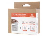 Incarcator retea Dual USB MicroUSB Hawell Travel Alb Blister Original