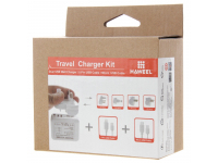 Incarcator retea MicroUSB - Lightning Hawell Travel Alb Blister Original