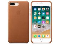 Husa piele Apple iPhone 8 Plus MQHK2ZM maro Blister Originala