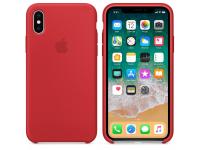 Husa piele Apple iPhone X MQTE2ZM rosie Blister Originala