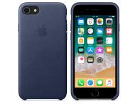 Husa piele Apple iPhone 8 MQH82ZM albastra Blister Originala