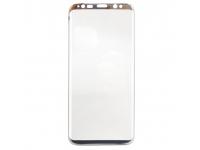 Folie Protectie ecran antisoc Samsung Galaxy S8 G950 Tempered Glass Full Face 3D Argintie Blister