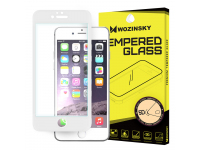 Folie Protectie ecran antisoc Apple iPhone 6 WZK Tempered Glass Full Face 5D alba Blister Originala