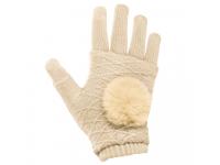 Manusi iarna Touchscreen Sensitive Fingerless crem