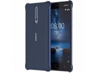 Husa plastic Nokia 8 CC-801B Soft Touch bleumarin Blister Originala