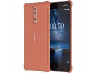 Husa plastic Nokia 8 CC-801BR Soft Touch maro Blister Originala
