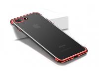 Husa silicon TPU Apple iPhone 7 Cafele Electro Rosie Blister Originala
