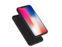 Pachet promotional Husa plastic + Folie Tempered Glass Apple iPhone X