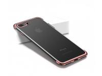 Husa silicon TPU Apple iPhone 7 Cafele Electro Roz Blister Originala