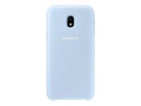 Husa plastic Samsung Galaxy J3 (2017) J330 Dual Layer EF-PJ330CLEGWW albastra Blister Originala