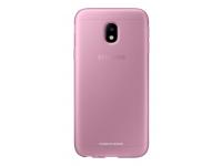 Husa Silicon TPU Samsung Galaxy J3 (2017) J330 Jelly Cover EF-AJ330TPEGWW roz Transparenta Blister Originala