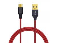 Cablu de date USB - USB Type C Vonuo Nylon 1m rosu Original