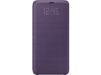 Husa textil Samsung Galaxy S9 G960 LED View EF-NG960PVEGWW Mov Blister Originala