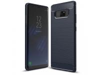 Husa silicon TPU Samsung Galaxy Note8 N950 Carbon Bleumarin