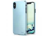 Husa plastic Apple iPhone X Ringke Slim albastra Blister Originala