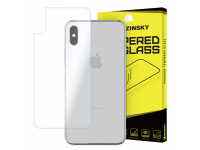 Folie Protectie spate Apple iPhone X WZK Tempered Glass Blister Originala