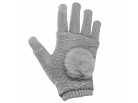 Manusi iarna Touchscreen Sensitive Fingerless gri