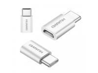 Adaptor USB Type-C - MicroUSB Huawei AP52 alb