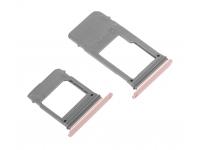 Set Suport SIM si card MicroSD Samsung Galaxy A5 (2017) A520 roz