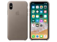Husa piele Apple iPhone X MQT92ZM Taupe Blister Originala