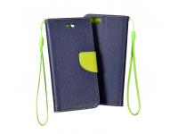 Husa piele Nokia 6 Fancy Bleumarin verde