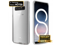Husa silicon TPU Samsung Galaxy Note8 N950 Goospery Mercury Clear Jelly transparenta Blister Originala