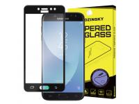 Folie Protectie ecran antisoc Samsung Galaxy J5 (2017) J530 WZK Tempered Glass Full Face neagra Blister Originala