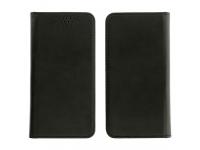 Husa piele Magnetic Book pentru telefon 5.5 inci, Dimensiuni interioare 165 x 85 mm, Neagra