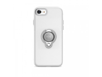 Husa plastic Apple iPhone 7 Puro Ring Magnet Alba Blister Originala