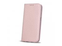 Husa Piele Nokia 6 Case Smart Carbon roz