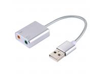 Placa De Sunet USB Virtual 7.1 Argintie