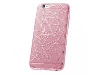 Husa plastic Huawei P10 Lite Fashion Glitter Geometric Roz