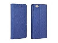 Husa Piele Samsung Galaxy A8 (2018) A530 Case Smart Magnet Bleumarin
