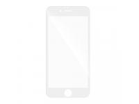 Folie Protectie ecran antisoc Apple iPhone X Flexible Tempered Glass Full Face Alba Blister