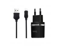 Incarcator retea Dual USB Lightning HOCO C12 2.4A Blister Original