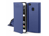 Husa piele Huawei P9 lite mini Case Smart Magnet Bleumarin