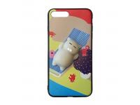 Husa silicon TPU Apple iPhone 7 3D Squishy Cat on the beach