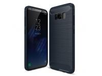 Husa silicon TPU Samsung Galaxy S8+ G955 Carbon Bleumarin