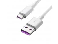 Cablu de date USB - USB Type-C Huawei AP71 Alb Blister Original
