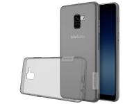 Husa silicon TPU Samsung Galaxy A8+ (2018) A730 Nillkin Nature Gri Transparenta Blister Originala