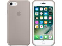Husa silicon TPU Apple iPhone 7 MQ0L2ZM bej Blister Originala