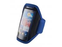 Husa textil mana universala telefon 4.8 inci Runner albastra