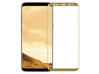 Folie Protectie Ecran OEM pentru Samsung Galaxy S8 G950, Sticla securizata, Full Face, Premium 3D, Aurie, Blister